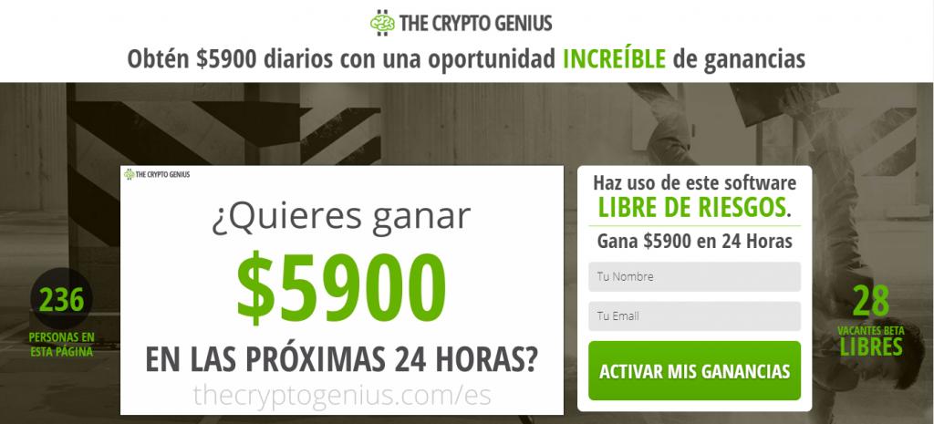 The Crypto Genius es estafa