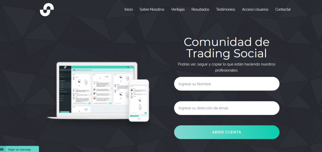 social trading community