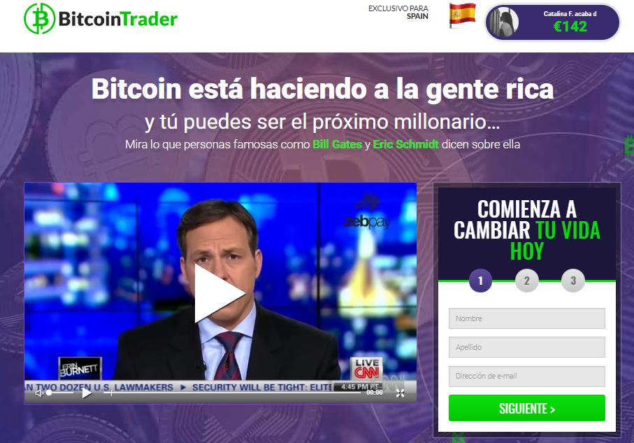 Bitcoin Trader es estafa