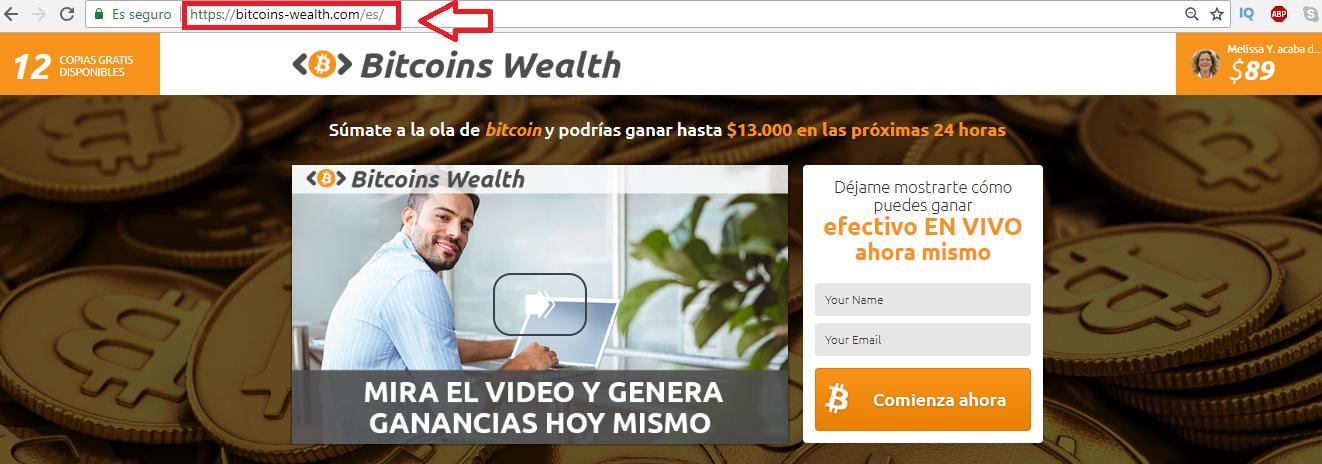 Bitcoins wealth es estafa